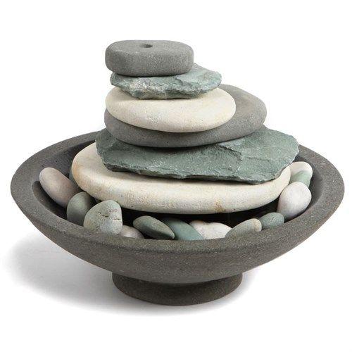 Fontaine dintérieure galet pour créer une ambiance zen nature et decouvertefontaine