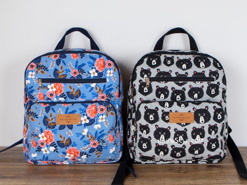 1307 Elina Backpacks (2 Sizes) PDF Pattern  9.00  ceff45005fef7