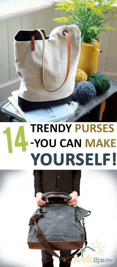 14 Trendy Purses-You Can Make Yourself! - | Sewing | Pinterest ...