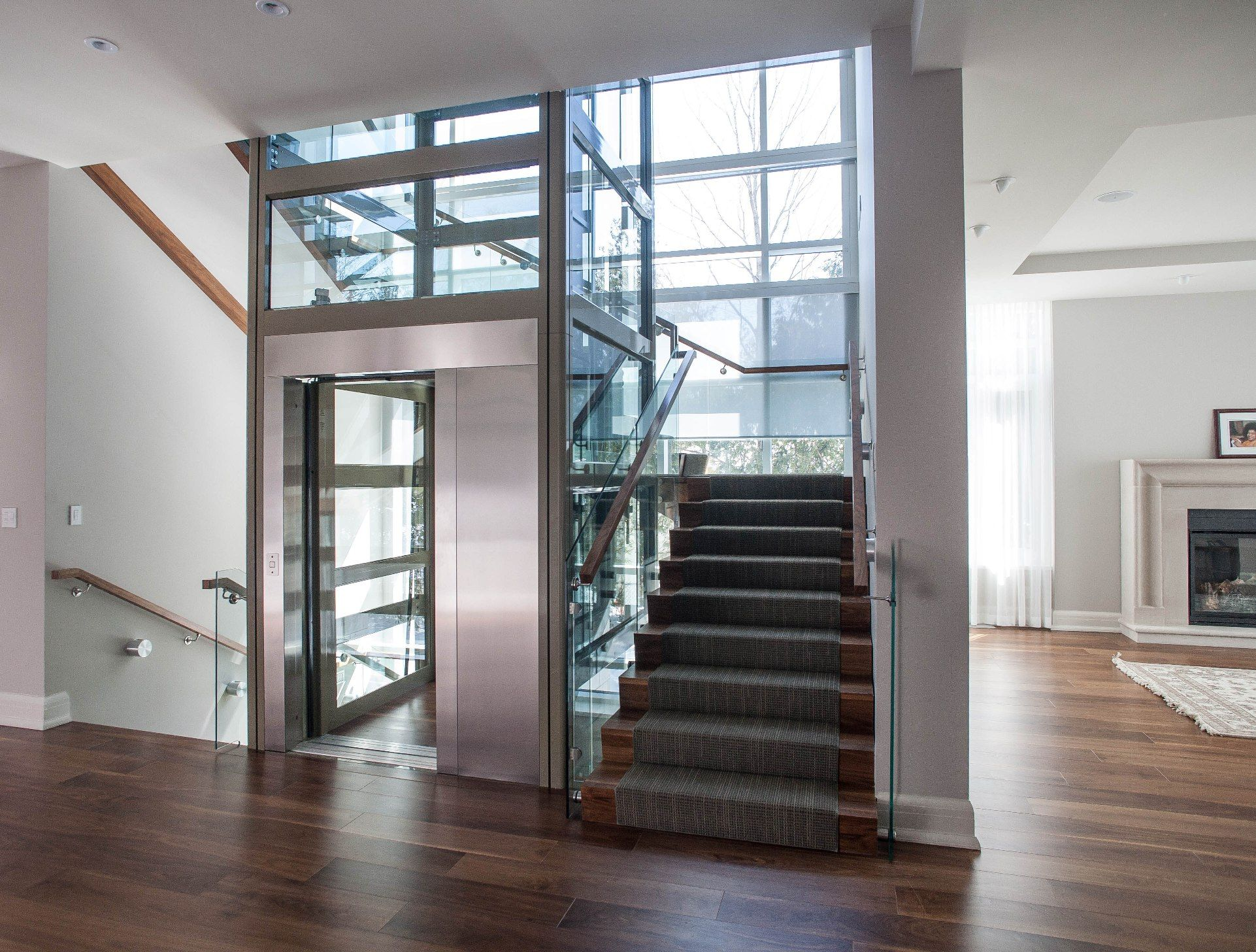 Congratulations To Upper Canada Elevators Winners Of The Garaventa Lift Project Of The Month For Their Submiss House Elevation Stairway Design Elevator Design