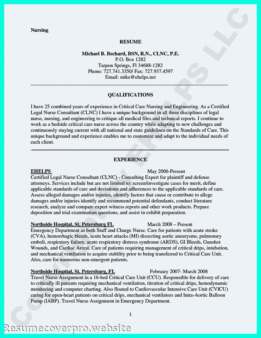Job Descriptions for an Icu Nurse Resume Nursing resume