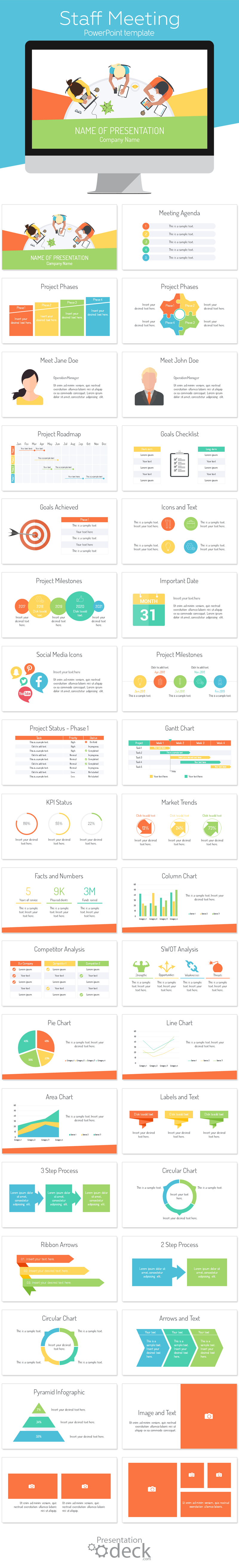Staff Meeting PowerPoint Template | Powerpoint Templates | Business