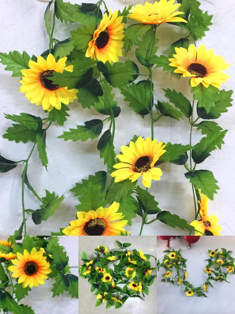 Where to buy cheap fake flowers image collections flower wallpaper hd visit to buy 240cm fake silk sunflower ivy vine artificial flowers cheap artificial flowers buy quality izmirmasajfo