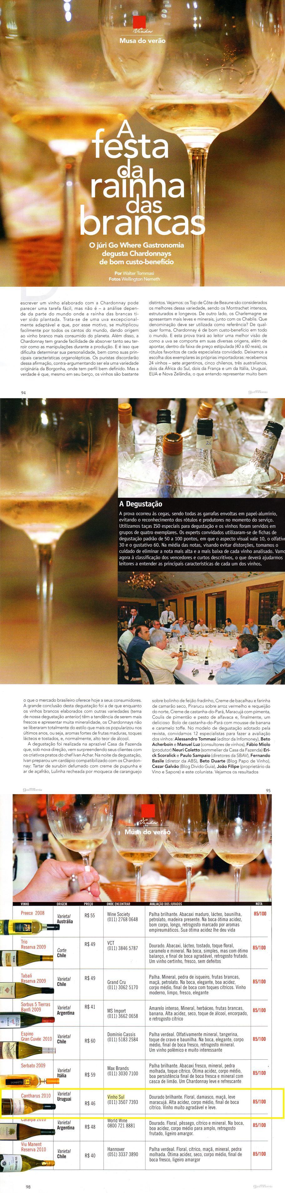 Revista Go Where Gastronomia