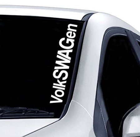 Volkswagen Windscreen Sticker Vw Golf Polo Funny Car Van