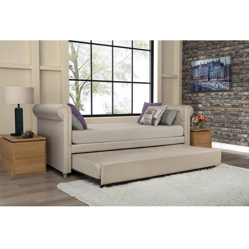 Chesterfield Sofa DHP Sophia Upholstered Trundle Daybed Overstock Shopping Great Deals on DHP Beds