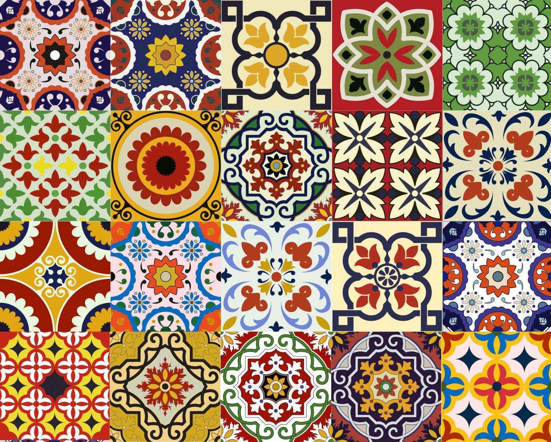 IDEAS Talavera baño azulejo pegatina conjunto de 24 ...