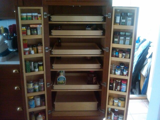 Pull Out Pantry Cabinets With Cabinet Pull Out Shelves Kitchen