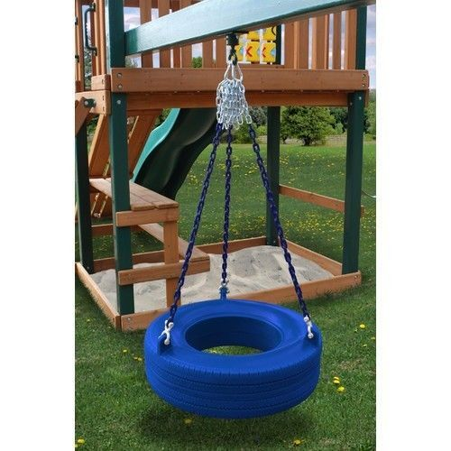Gorilla Playsets Commercial Grade Blue Tire Swing Swingset Daycare Playground
