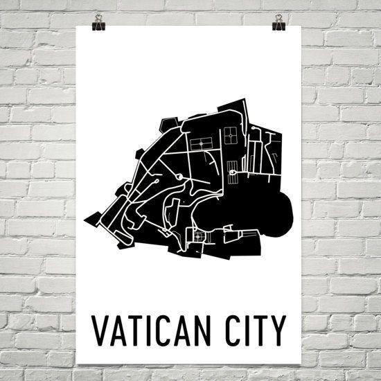 Vatican City Map Vatican Art Vatican Gift Map of Vatican
