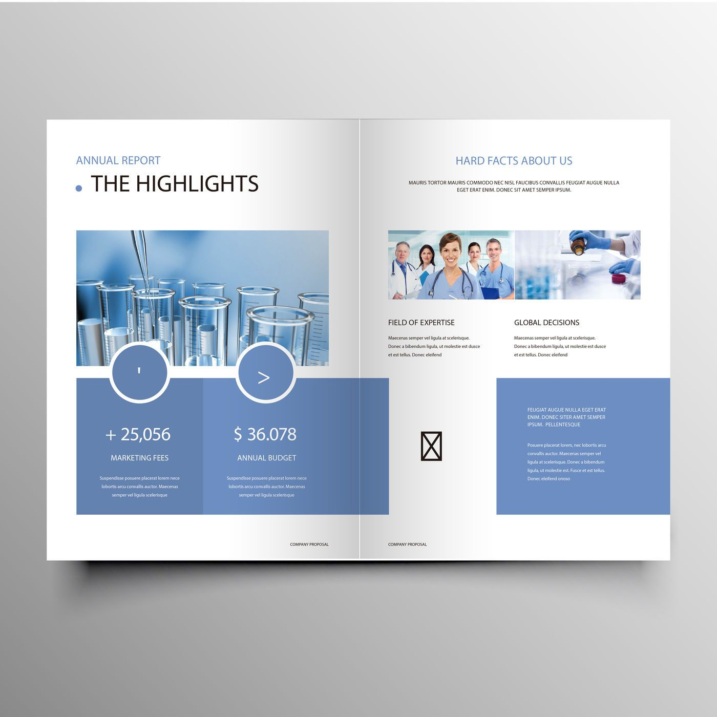 Modern Blue Company Profile Brochuer Template By Creativedesign Thehungryjpeg Com Company Aff Company Brochure Brochure Template Print Designs Inspiration