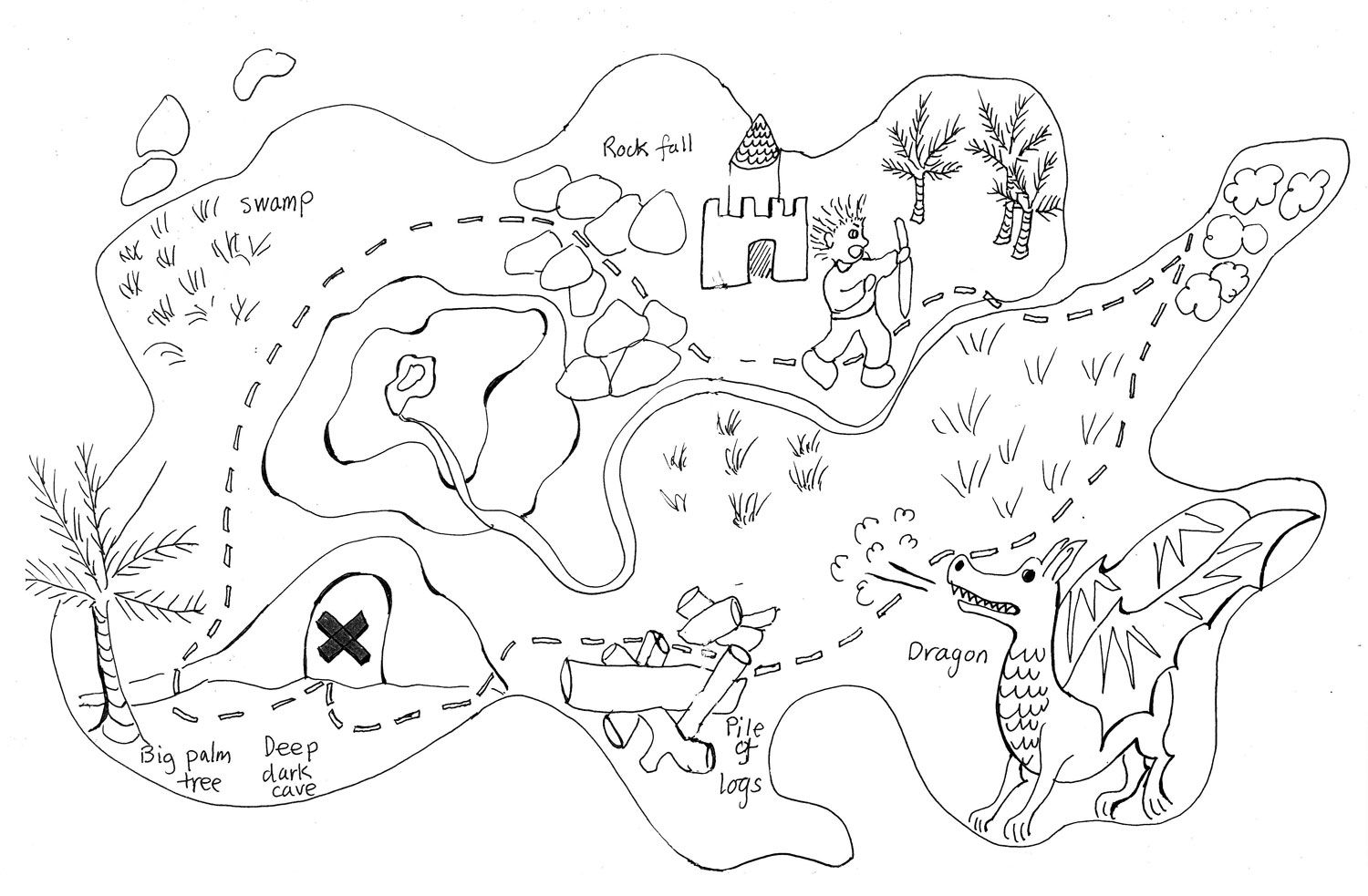 treasure map black and white Google Search Treasure