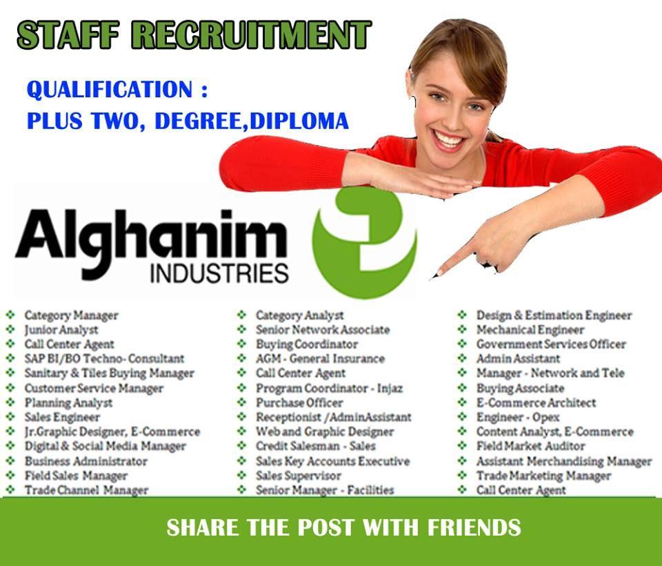 Jobs In Alghanim Industries Accommodation Free Visa
