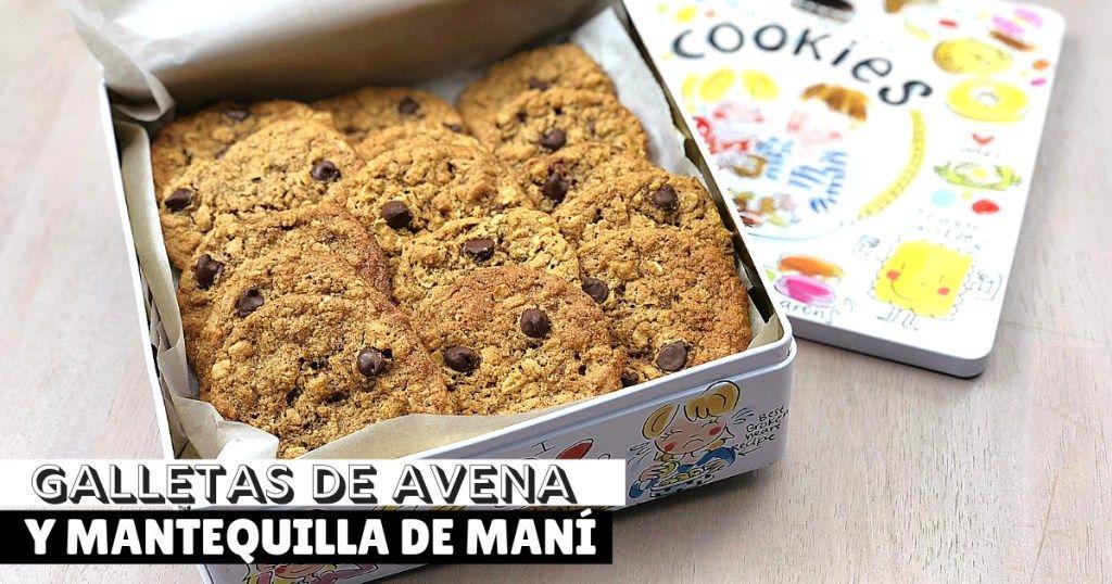 Galletas De Avena Y Mantequilla De Maní Receta Galletas De Avena Mantequilla De Mani Como Hacer Galletas