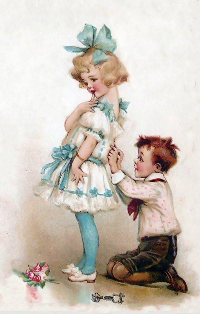 связано тем, старинные открытки с детьми молодой красивый мужчина