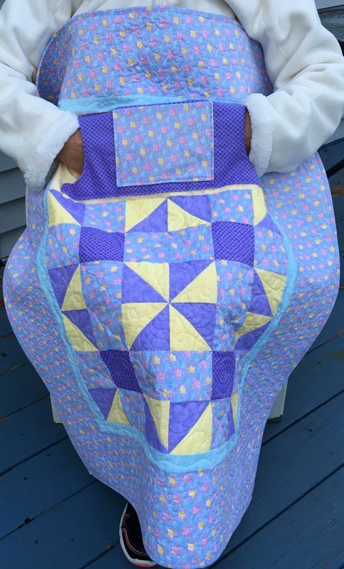Lilac Lovie Lap Quilt with Pockets from http://www.homesewnbycarolyn.com