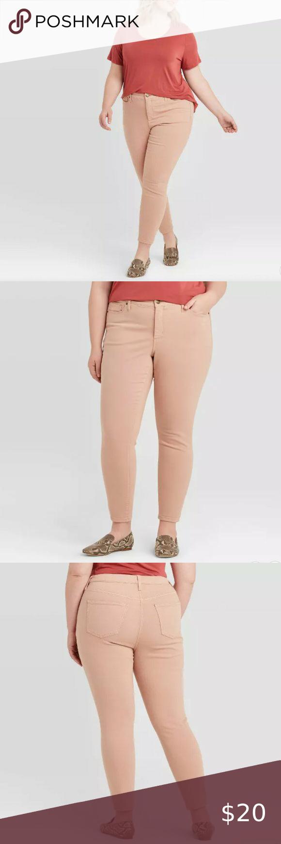 Ava & Viv - Plus Size Mid-Rise Skinny Jeans