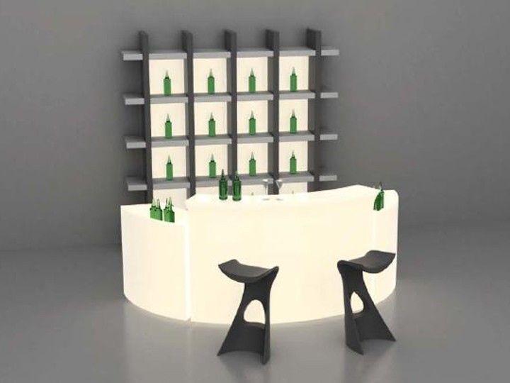 Barmöbel Wohnzimmer ~ Break bar theke in outdoor barmöbel mit beleuchtung slide design