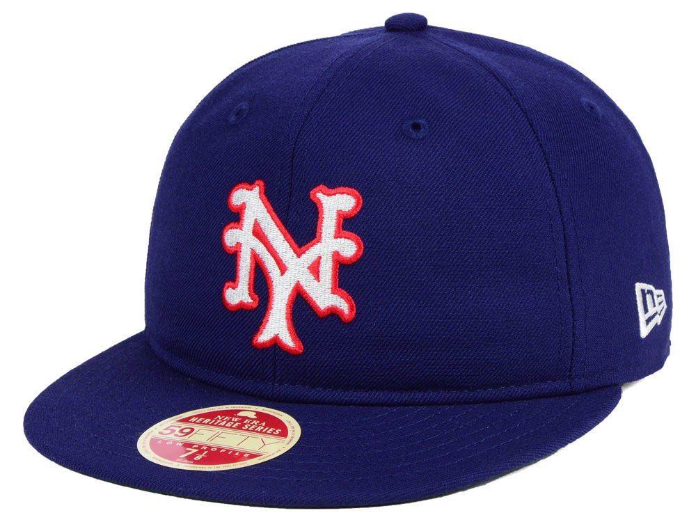 New York Giants New Era Mlb Heritage Retro Classic 59fifty Cap New York Giants Fitted Caps New Era