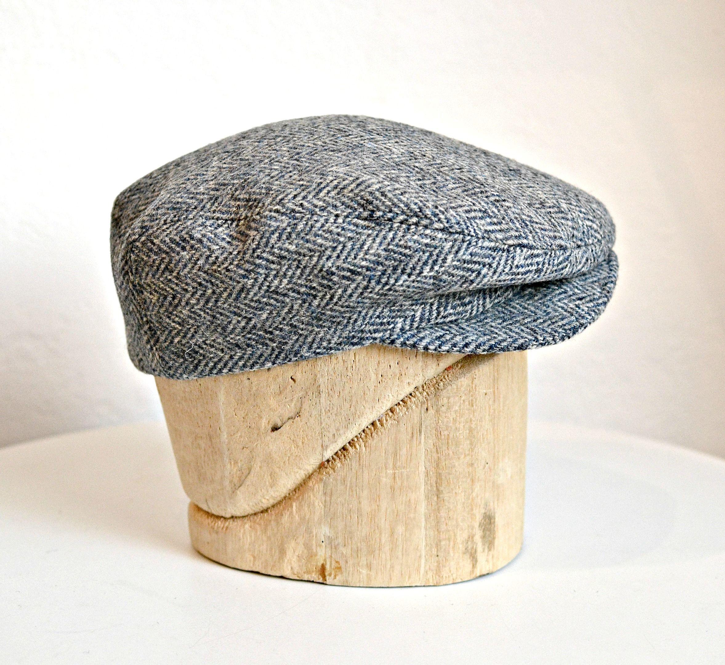 a1e3068ecf6 Men s Driving Cap in Vintage Herringbone Tweed - Flat Cap ...