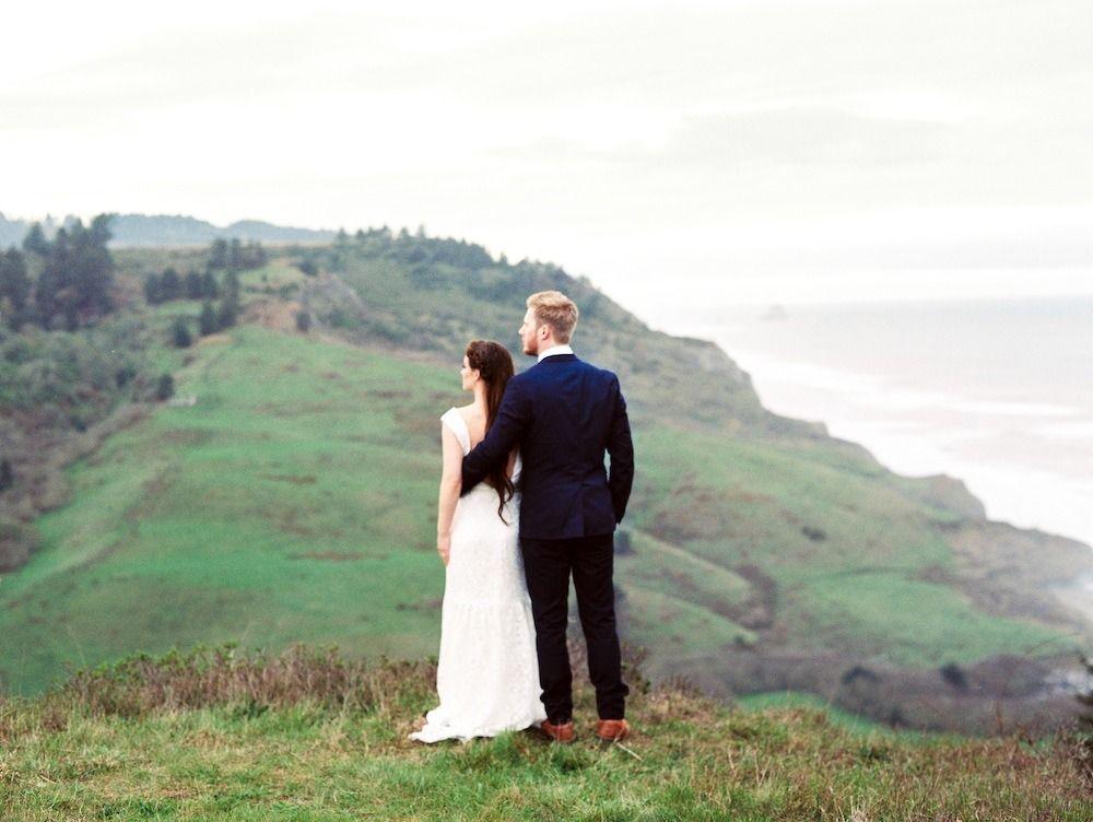 Elopement among the redwoods elopement mountain wedding
