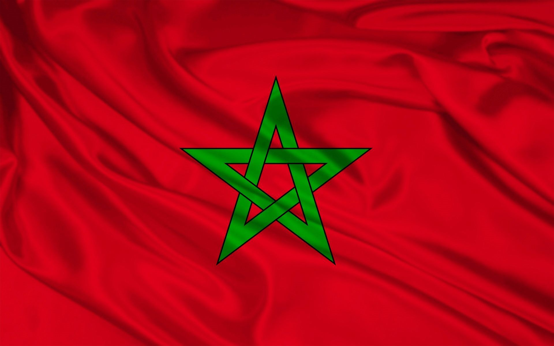 Moroccan Flag Silk Flag Of Morocco Flags Morocco Flag Vlag