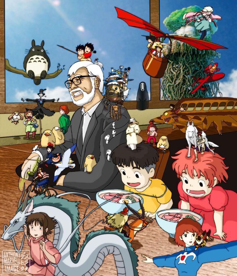 Fanart Les Animes Ghibli 宮崎 駿 Miyazaki Hayao ジブリ ジブリ イラスト スタジオジブリ