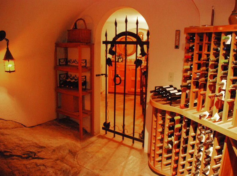 Custom Wine Cellar Gates And Doors