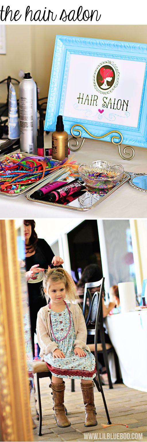 A Beauty Salon Glam Birthday Party with Mini Doll Salon