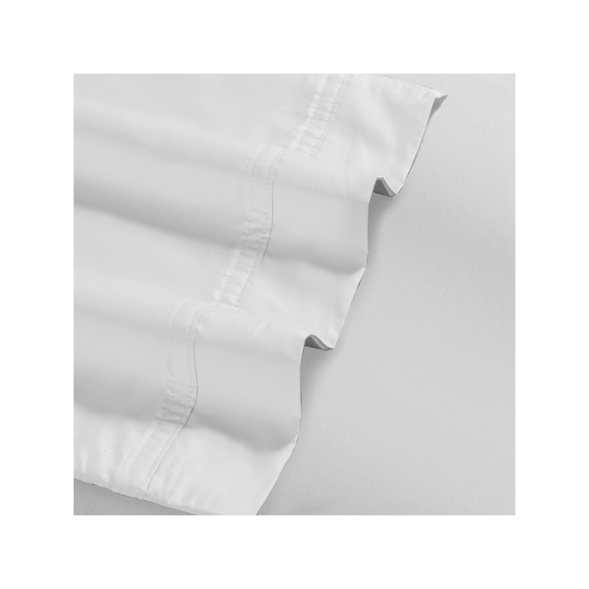 Solid 500-Thread Count Egyptian Cotton Sateen Deep-Pocket Sheets, White Queen