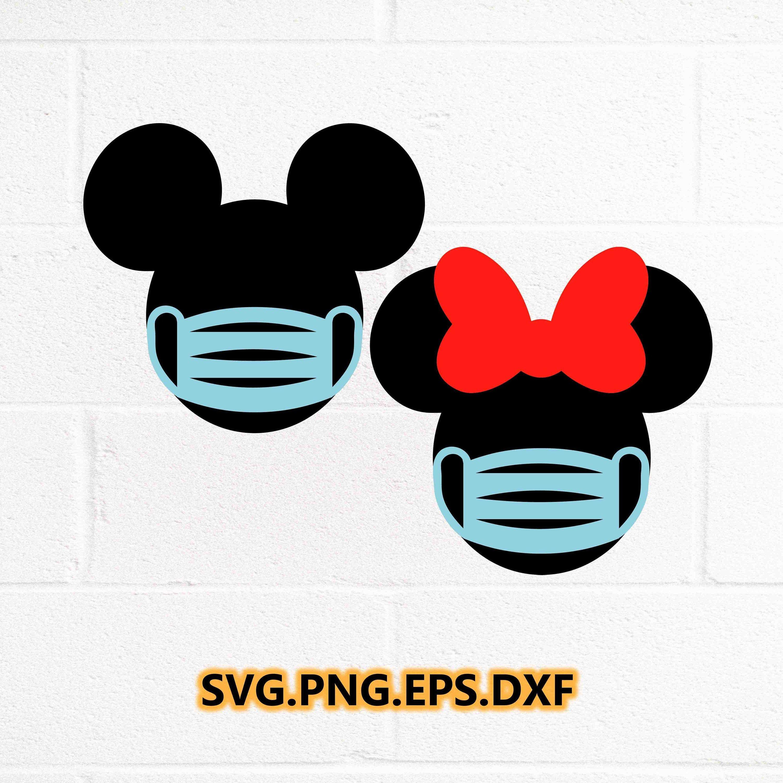 Disney 2020 Quarantined svg / Mickey Mouse Svg File / Mask