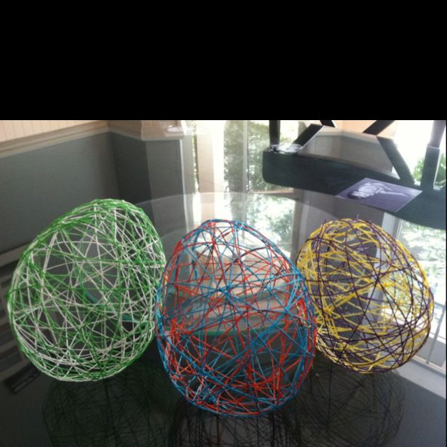 Fun craft made out of elmer s glue string and balloons