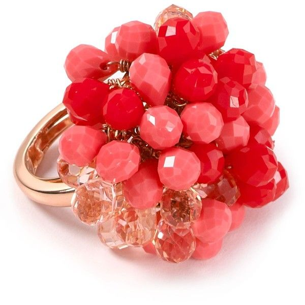 Juicy Couture Briolette Cluster Ring found on Polyvore