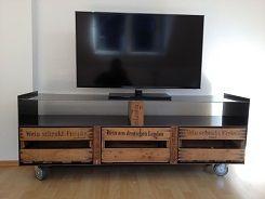 Tv bank weinkisten  Inspiration: Designer TV-Tisch mit Weinkisten | Do It Yourself (DIY ...