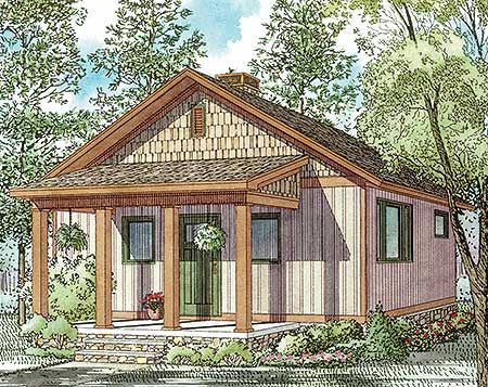 Plan 60677ND 2 Bed Rustic Getaway House Plan Narrow lot house