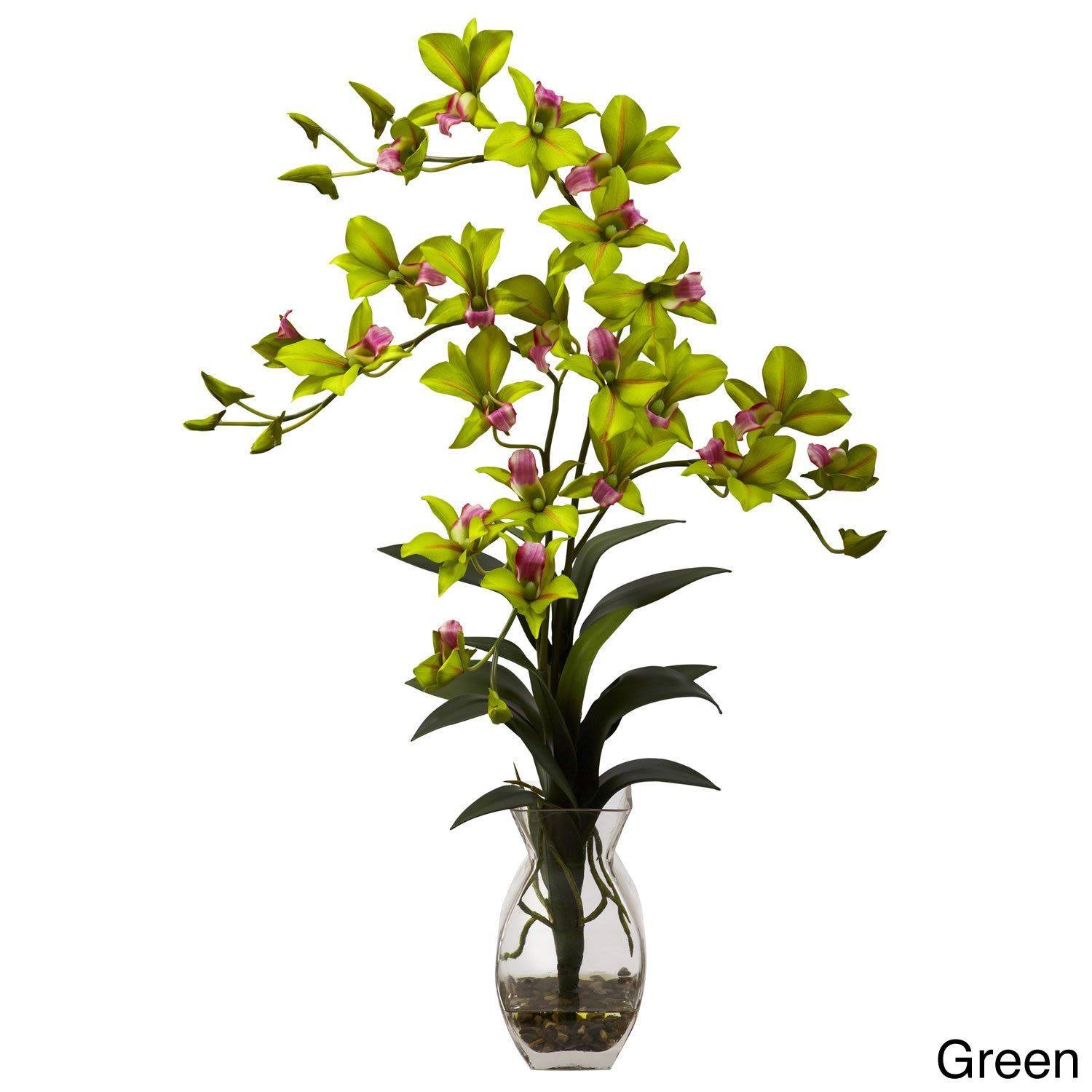 Nearly natural dendrobium orchid vase arrangement decorative plant nearly natural dendrobium orchid vase arrangement decorative plant purple reviewsmspy