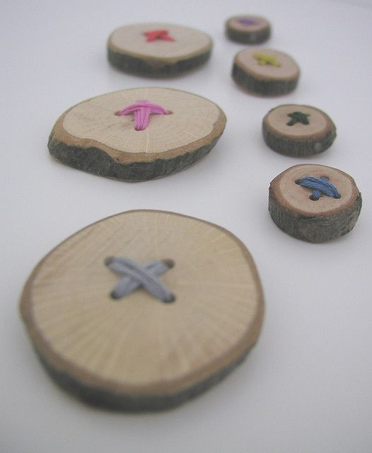 Wooden Buttons by Hand Knitted Things, via Flickr