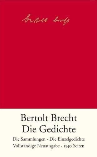 19121921 Bertolt Brecht Veröffentlicht Seine Gedichte