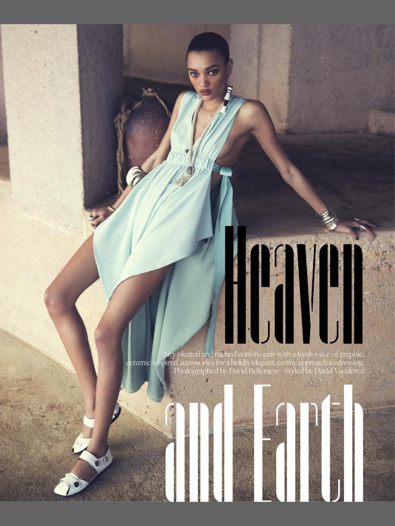 ELLE April 2017 | Heaven and Earth  Photographer: David Bellemere  Stylist: David Vandewal  Model: Lameka Fox