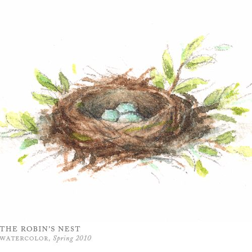 Image result for the robin's nest water color 2010