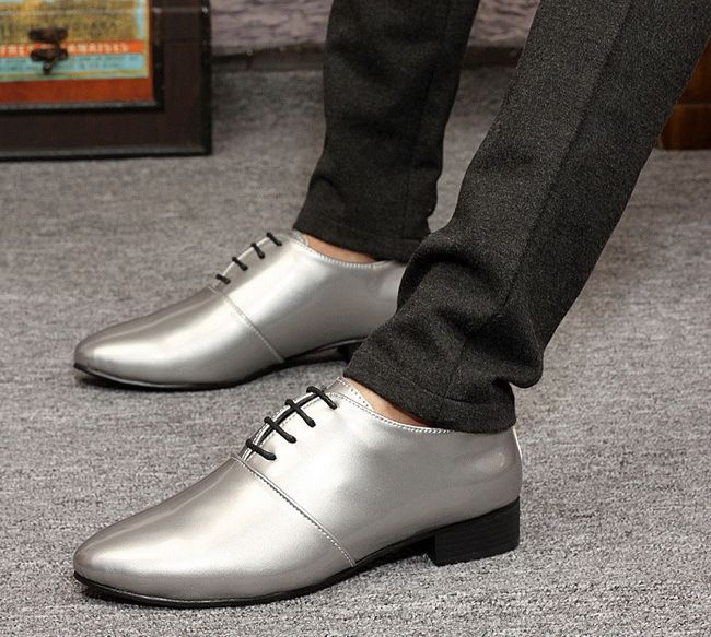 2015 Fashion Oxford Shoes for Men Pointed Toe Brand Design Men Casual Dress Shoes Tip Toe Leather Shoes Patent Black XMC057-Q