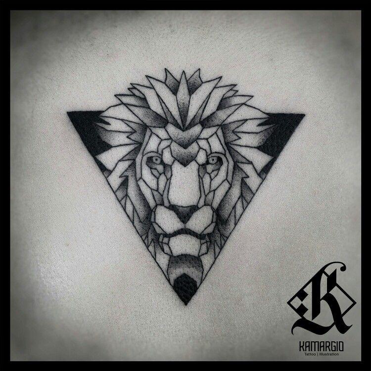 Lion Geometric Animal Geometry Tatuaje De Tigres Tatuajes Geometricos Estilo De Tatuaje