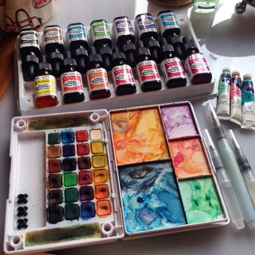 Cousaten These Are The Tools I Use Most Often To Paint From Top