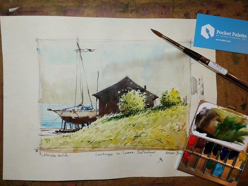 Work Watercolor By Artorn Budseetada Painting Watercolor Art