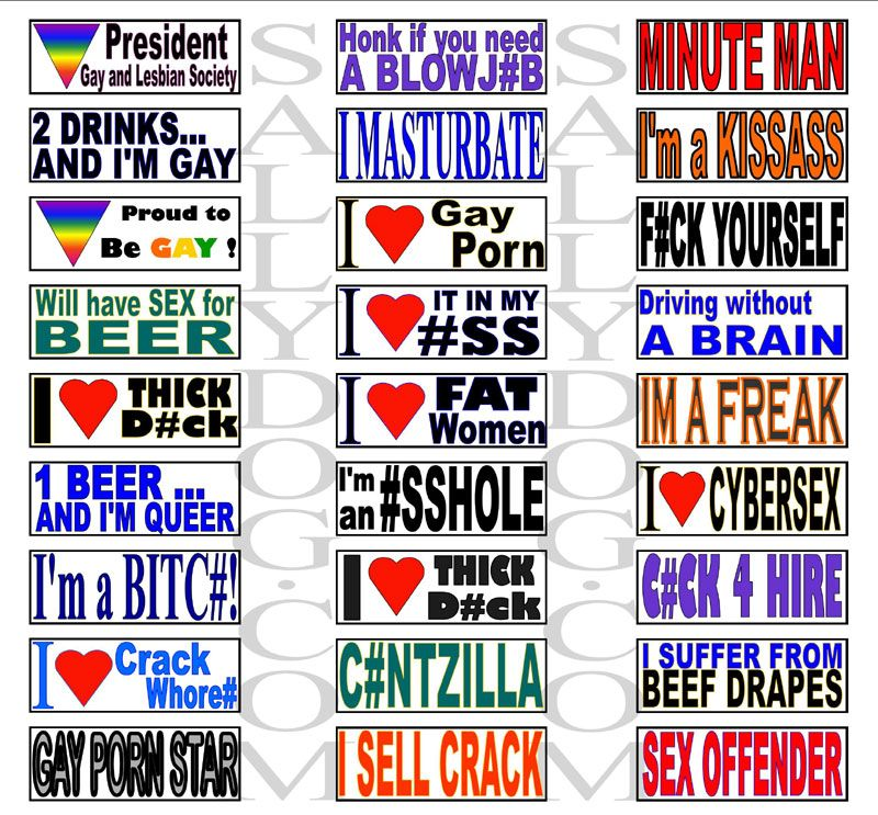 Magnetic Bumper Stickers Funny