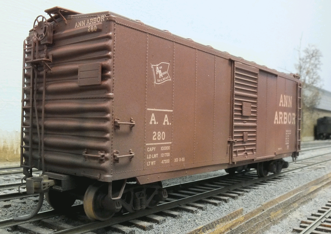 ann arbor railroad freight cars | Lettering notes ...