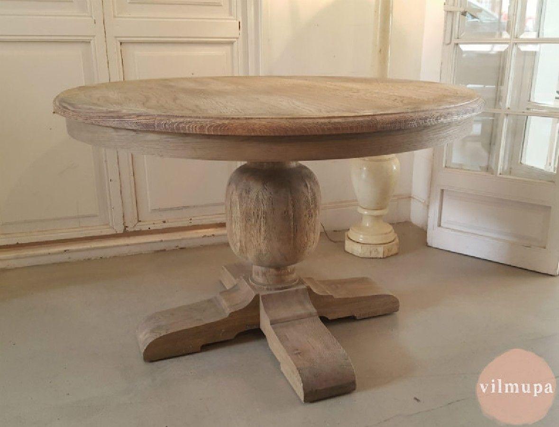 Mesa comedor redonda de madera natural ideas de inspiración