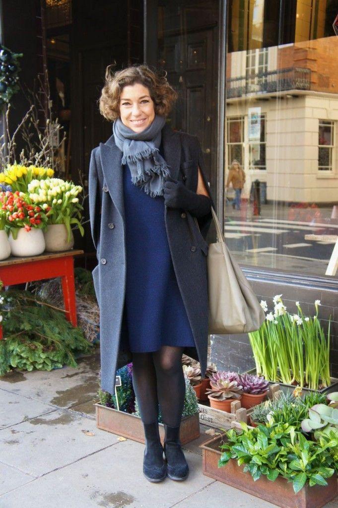 Look do dia: Vestido de tricot (novinho) COS, luvas de tricot não lembro da marca e foulard de cachmere sem marca, bolsa Céline,Casaco Prada, botas Andreoni.
