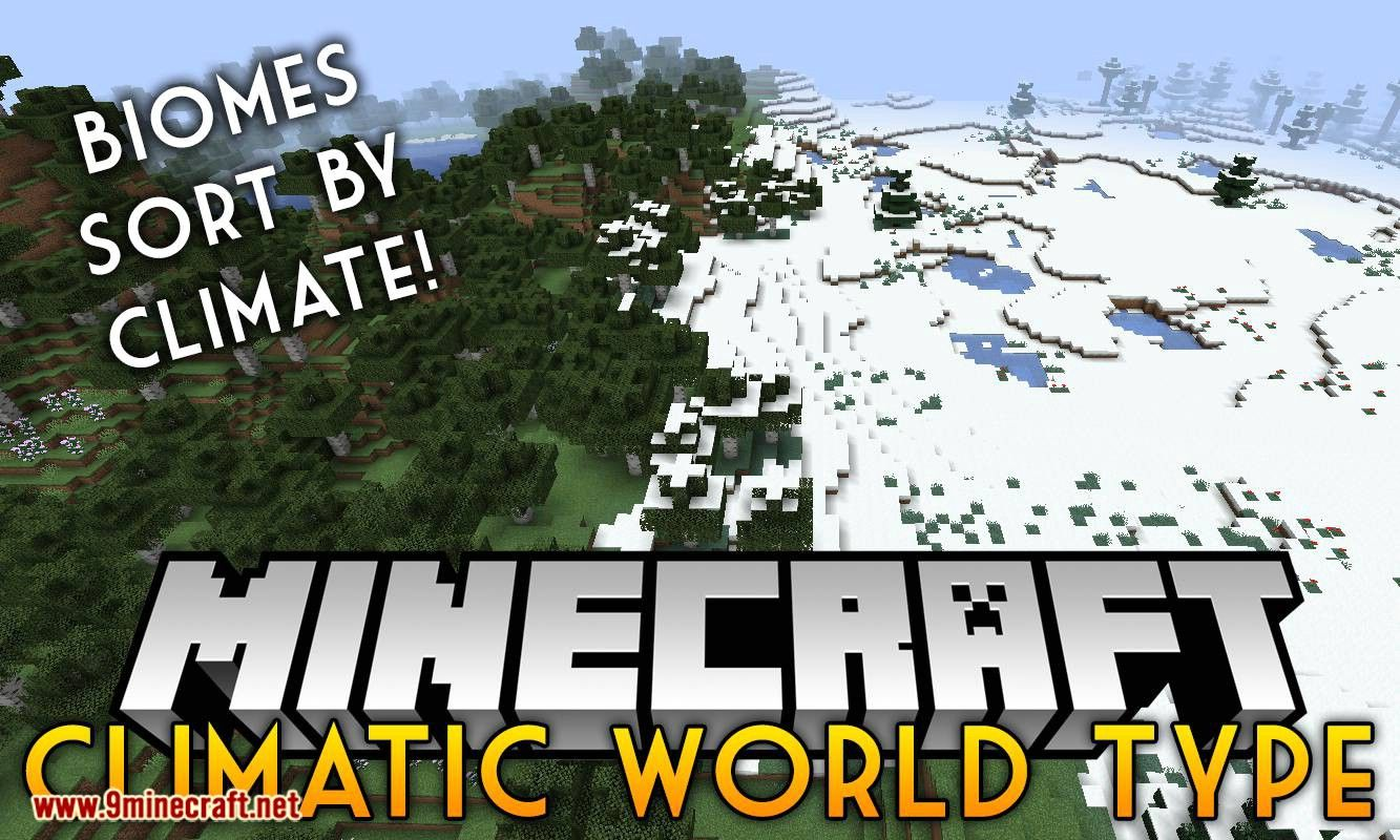 Climatic World Type Mod 1.14.4 (Places Biomes Based on