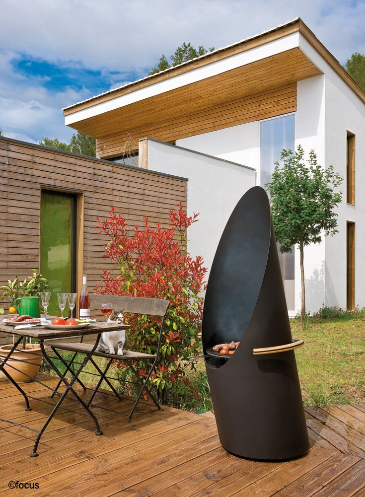 cheminee extérieure - barbecue diagofocus #design contemporain ...